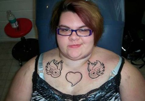 fat woman with tattoos