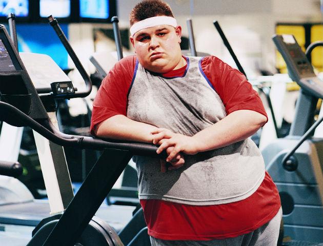 fat dude at gym